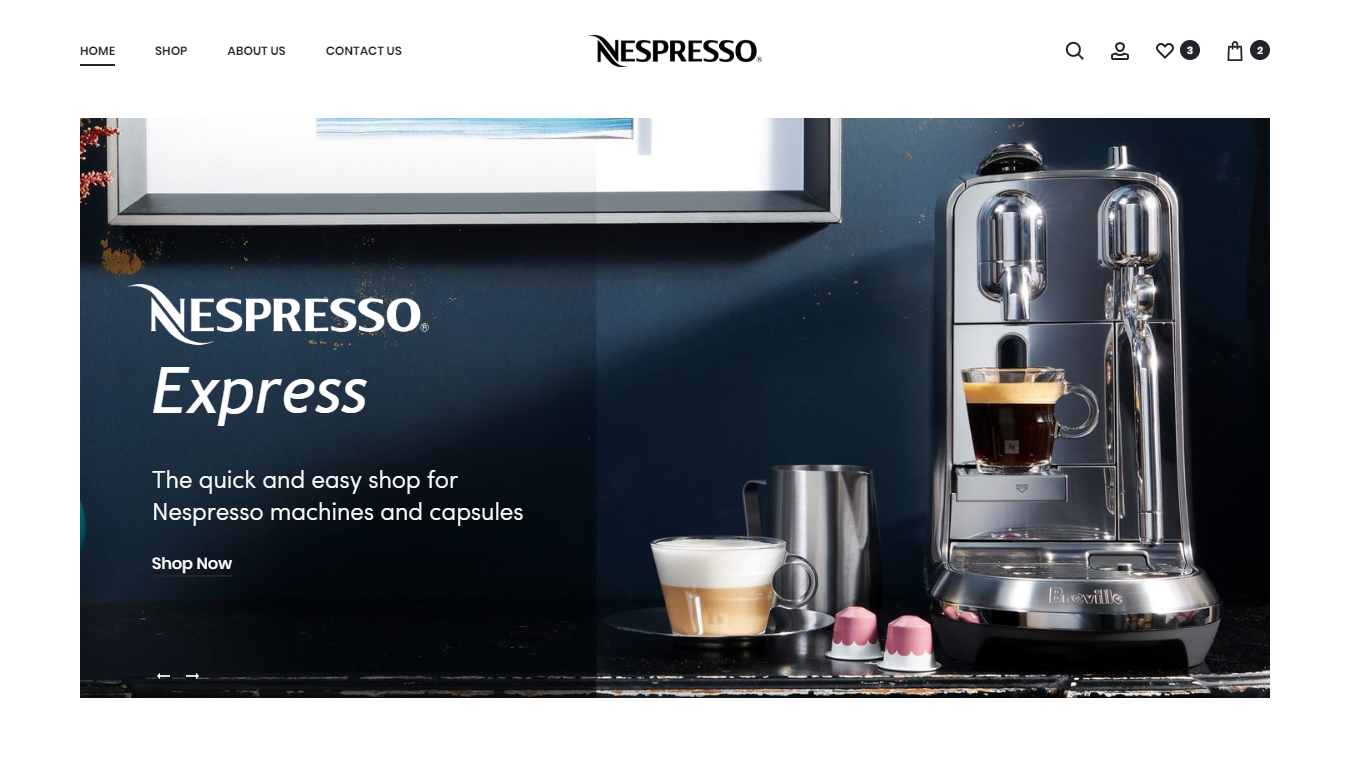 Nespresso Express Project by Antares Code Studio